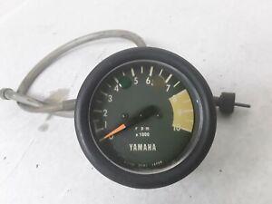 VINTAGE-YAMAHA-CT2-CT3-TACH-TACHOMETER-amp-CABLE-72-73-1972-1973