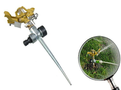 Profi Impulsregner Metall 290mm Erdspieß Gartensprenger Kreisregner Sprinkler