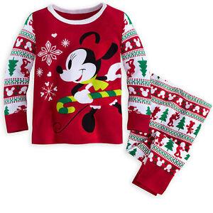 7531b7b68 Disney Store Minnie Mouse Holiday Pajama Set Christmas Baby Girls ...