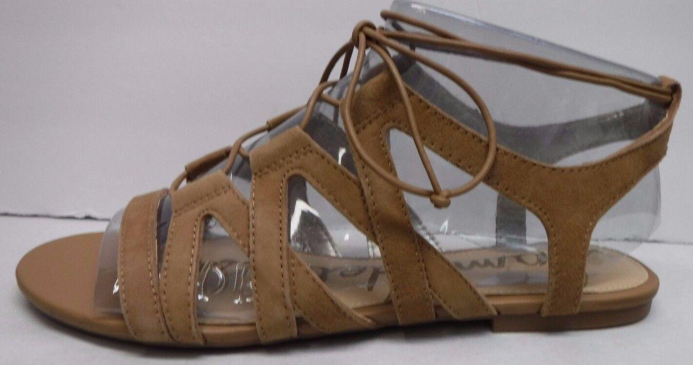 Sam Edelman Größe 9.5 Caramel Suede Sandales NEU Damenschuhe Schuhes