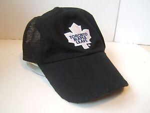 Toronto Maple Leafs Black Snapback Trucker Hat Coors Light Beer NHL ... ec0d39667e0