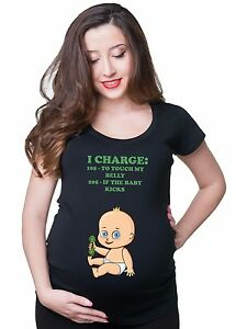 Pregnancy-T-shirt-I-Charge-To-Touch-My-Belly-Funny-Maternity-Baby-T-shirt