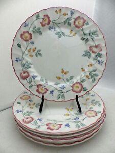 Churchill-of-England-Briar-Rose-pattern-set-lot-of-6-Dinner-plates-10-034-EUC