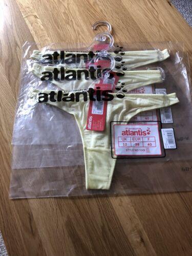 3 Panache Atlantis NEW T-shirt String Taille 12 Couleur Citron RRP £ 24 Free p/&p £ 5.00