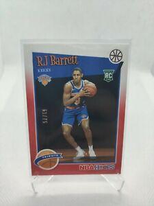 2019-20 PANINI NBA HOOPS RJ BARRETT ROOKIE CARD #298 RED PARALLEL #61/75