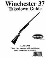 Winchester Model 37 Takedown Disassembly Assembly Guide Radocy