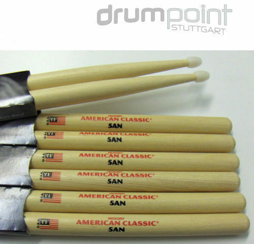 3 Paar original Vic Firth American Classic Hickory 5AN 5A Nylon Sticks  TOPDEAL
