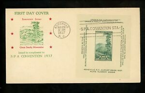 Details about US FDC #797 Holland M-28 1937 Asheville NC Society of  Philatelic Americans SPA