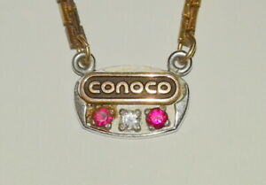 VINTAGE CONOCO - CONTINENTAL OIL CO 10K GOLD YEARS OF SERVICE TIE CLASP