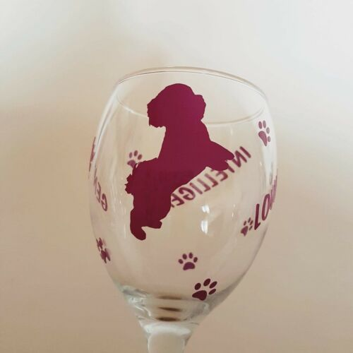 Dog Gifts Cavapoo Wine Glass Cavapoo