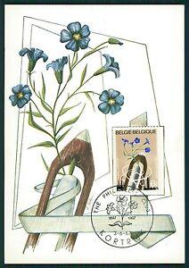 BELGIEN-MK-1967-FLORA-FLACHS-SPINDEL-MAXIMUMKARTE-CARTE-MAXIMUM-CARD-MC-CM-bs07