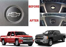 Flat Black Steering Wheel Vinyl Bowtie For 2007-2013 Chevrolet Silverado New USA