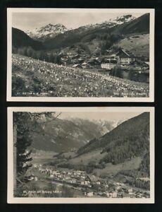 Switzerland-ST-ANTON-2-general-view-inc-railway-station-c1920-40s-RP-PPCs