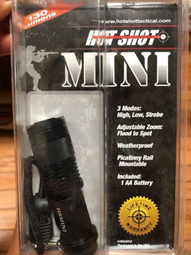 Hot Shot Tactical Mini Flashlight Black 130 Lumens New In Package