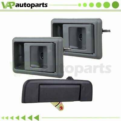 2 Gray Inner Door Handle Set LH RH for 89-95 Toyota  4Runner Tacoma Front Rear