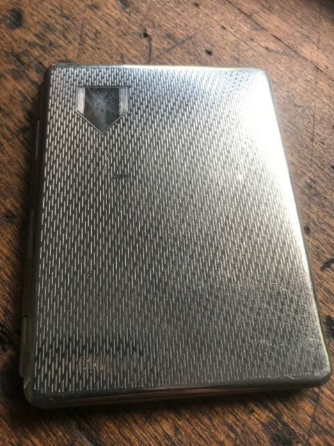 VINTAGE ANTIQUE TOBACCO CIGARETTE CASE SILVER POCKET TIN