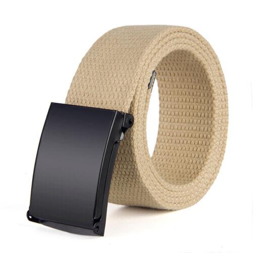 Unisex Men Waistband Canvas Belts Military Web Belt Automatic Buckle Outdoor