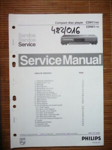 service manual philips cd 911 921 cd player original ebay rh ebay com philips mp3 cd player manual philips jogproof cd player manual