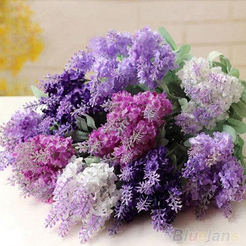 10 Heads Charismatic Artificial Lavender Silk Flower Bouquet Party Wedding Decor