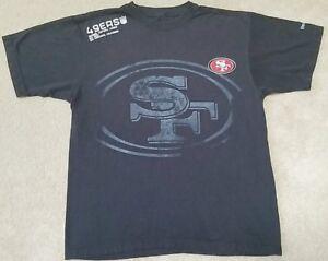 SAN-FRANCISCO-49ERS-NFL-NFC-WEST-Reebok-T-Shirt-Mens-Med-Black