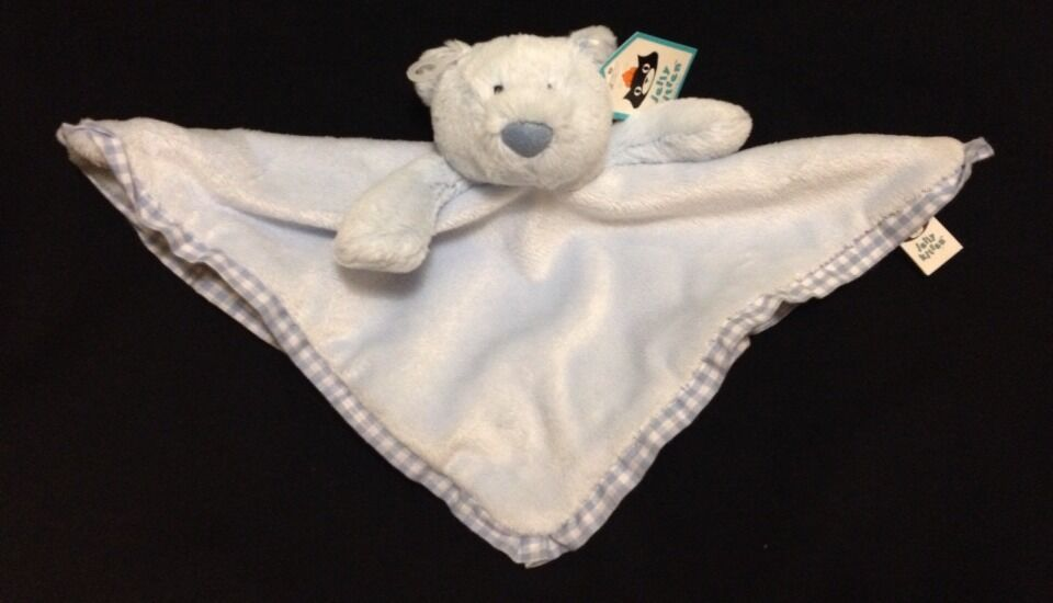 Jellycat My First Soother Bear bluee Blanket Doudou Soft Toy Gingham Comforter