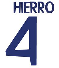Real Madrid Hierro Nameset Shirt Soccer Number Letter Heat Print Football 98 H