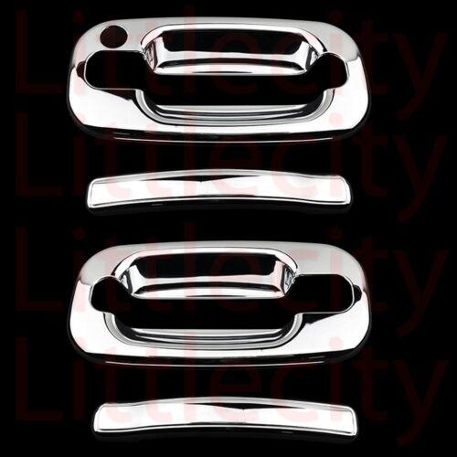 99-06 00 01 02 03 04 05 Chevy Silverado GMC Sierra Chrome 2 Door Handle Covers