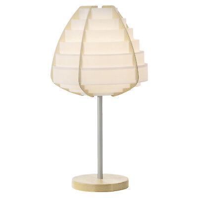 Schreib Nachttisch Lese Tisch Leuchte Lampe Wohn Schlaf Zimmer Holzfarbend weiß