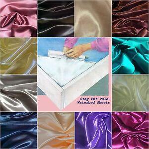2-KING-SIZE-WATERBED-SHEET-SETS-Bridal-Satin-FREE-BODY-PILLOWCASE-16-colors