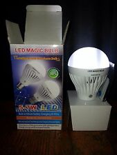 7W LED Emergency Power Outage Rechargeable Light bulb Works Without Electricity!