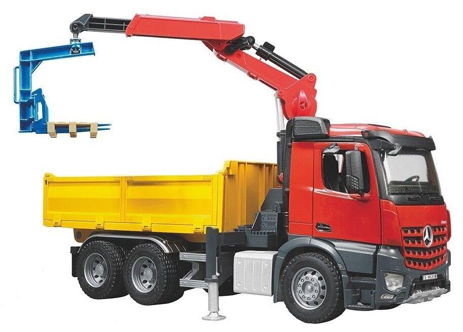 Bruder MB Arocs Construction Jouet Camion avec grue et accessoires 03651 NEUF