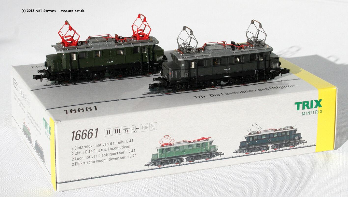 Minitrix N - 16661-e-Lok-Set 2 pezzi e 44 DRG & DB EP. II/III NUOVO & OVP