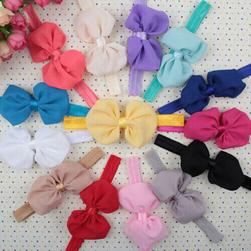 10Pcs Cute Kids Girl Baby Toddler Flower Bow Headband Hair Band Headwear Welcome 1