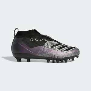 purple and black youth football cleats