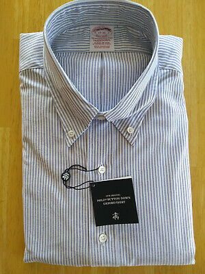 New Brooks Brothers Aqua Blue Supima Oxford Cloth Button Down Madison MSRP $140