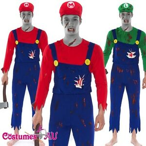 image is loading mens super mario luigi brother zombie bloody halloween