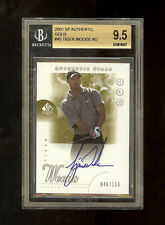 2001 TIGER WOODS SP AUTHENTIC GOLD AUTO ROOKIE RC /100 BGS 9.5+ 10 (10,95,95,9)