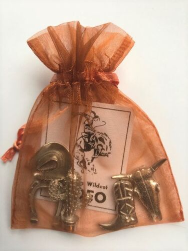 Bag of Charms Vilmain Charm Danforth Pewter Rodeo Western Country Boot Cowboy