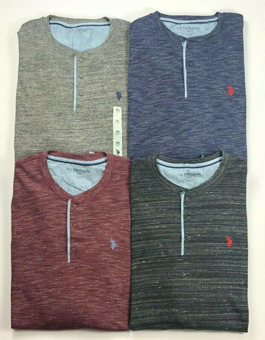 Big /& Tall Thermal Henley Long Sleeve Shirt Men/'s U.S Polo Assn