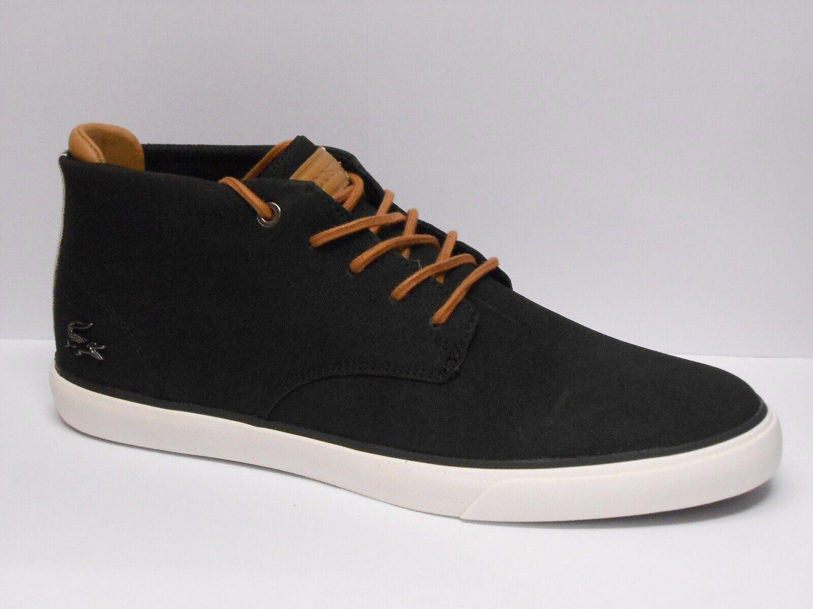 Lacoste Esparre Chukka 118 1 Cam Schwarze Herren UK Größe 6,5 Schuhe