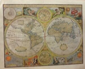Vintage world map historical art print giant poster ebay image is loading vintage world map historical art print giant poster gumiabroncs Image collections