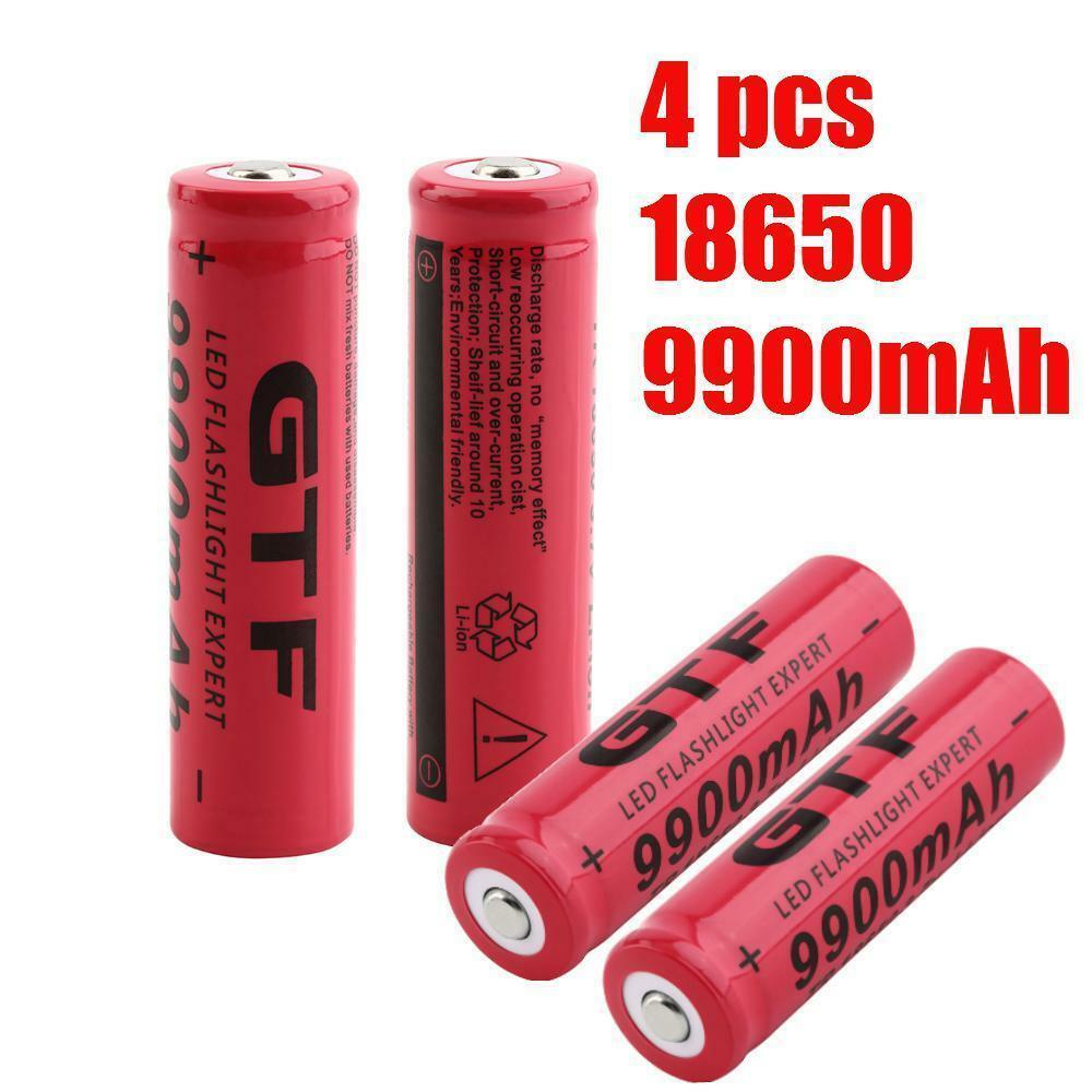 1-20PCS TR 18650 3.7V 9900mAh Rechargeable Li-ion Li-ion Rechargeable Battery for LED Flashlight GMU 50c88b