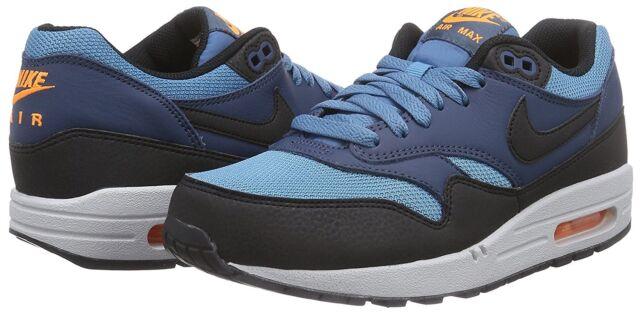 991efcb6f6 Men's Nike Air Max 1 Essential Running Shoes, 537383 402 Mult Sizes BLUE  BLACK S