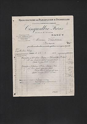 GüNstiger Verkauf Nancy, Rechnung 1926, Cinqualbre Frère Manufacture De Parapluis & Ombrelles