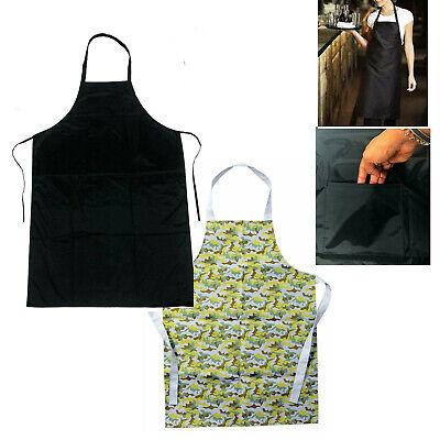 New Navy Long Waist Restaurant Apron Cooking Kitchen Baking