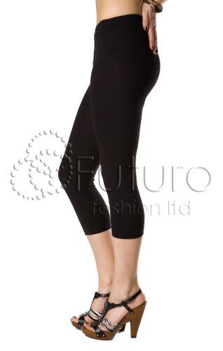 Schwarze Baumwolle Leggings Volle Länge,Abgeschnitten 3//4,Spitze