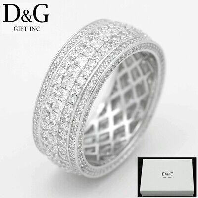 DG Men/'s 925 Sterling Silver Brilliant CZ Ring Size,Unisex 7 8,9 10 11,12 13*Box