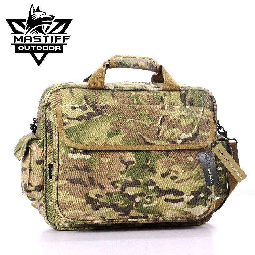 """Men/'s Tactical Satchel Shoulder Messenger Bag Travel Bag For 14/"""" Laptop Nylon BK"""