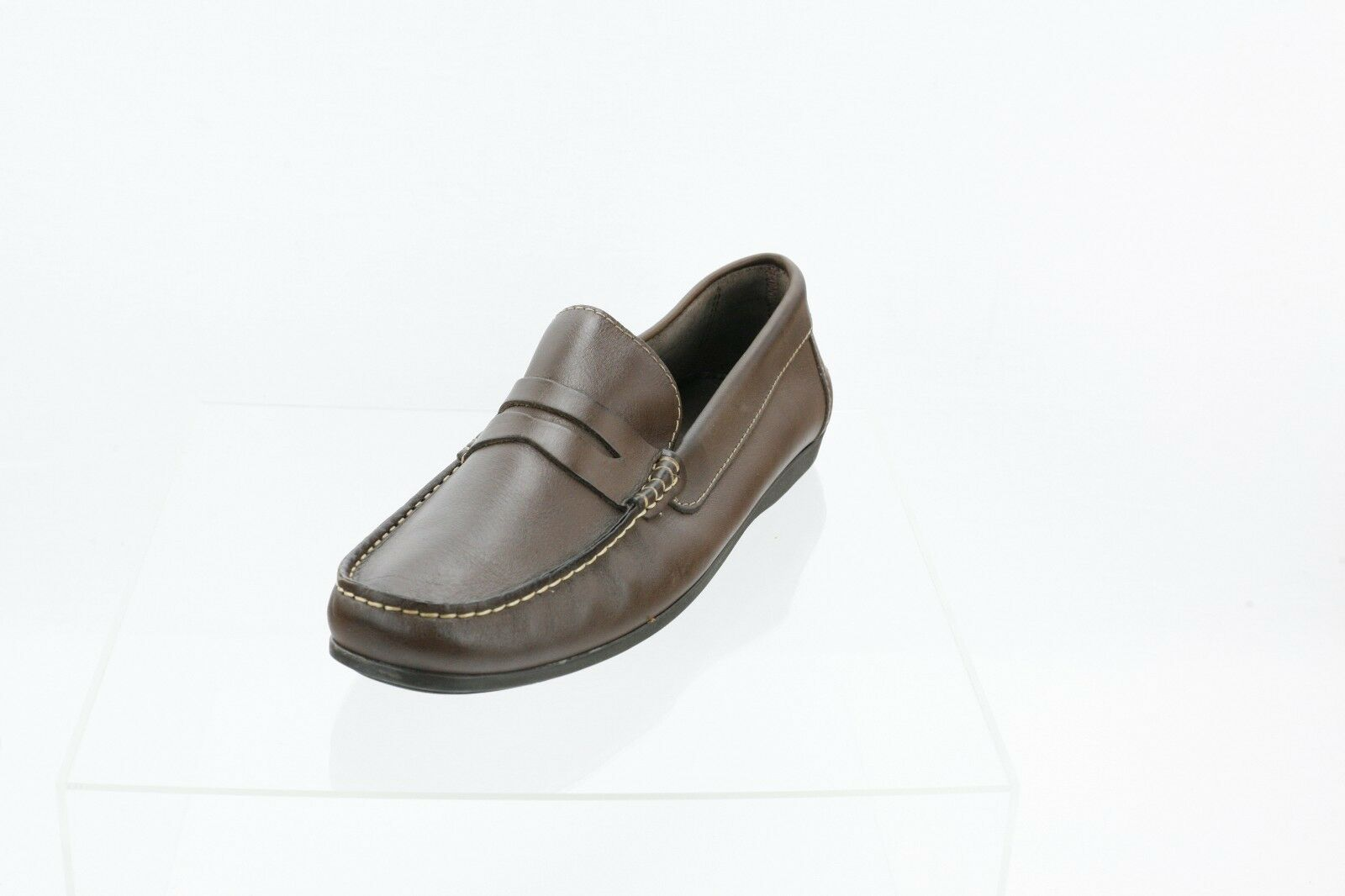 Florsheim Jasper Driving shoes Brown Leather Moc Toe Penny Loafers Men's  Sz 10