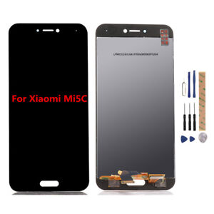 LCD Screen Mobile Phone for Xiaomi Mi 5c and Digitizer Full Assembly Color : White White